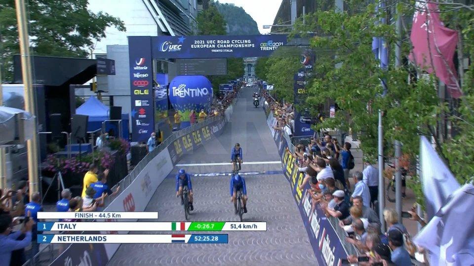 Crono U23: oro Vittoria Guazzini d'oro, bronzo Elena Pirrone