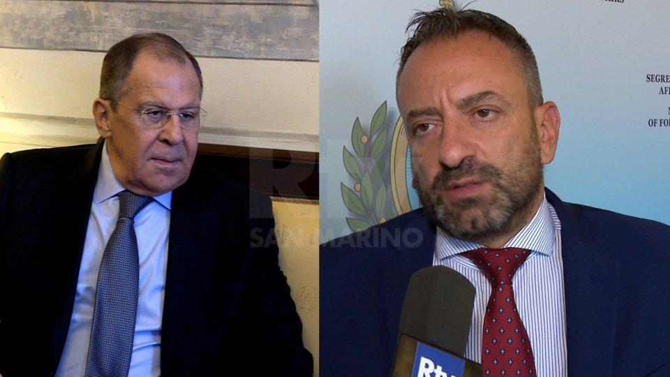 Visita ufficiale del Segretario di stato per gli Affari Esteri Luca Beccari a Mosca