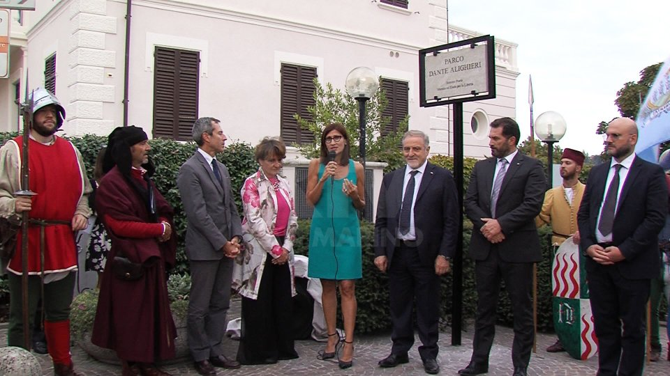 L'inaugurazione del Parco Dante Alighieri