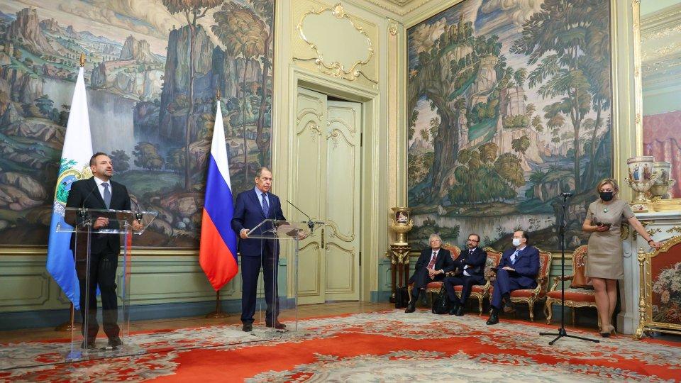 Visita ufficiale del Segretario di Stato Luca Beccari a Mosca. Oggi l'incontro con il Ministro per gli Affari Esteri Sergej Lavrov