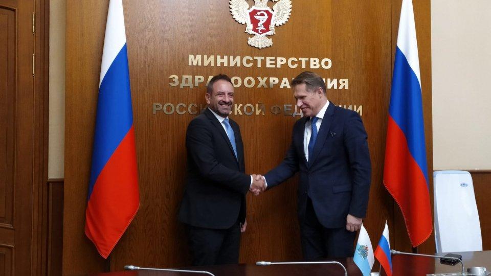 Visita ufficiale del Segretario di Stato Luca Beccari a Mosca. Oggi l'incontro con il ministro della salute Michail Muraško