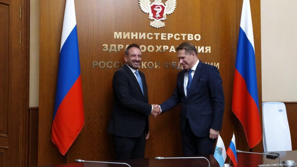 Beccari a Mosca: oggi l'incontro con il ministro della salute Michail Muraško