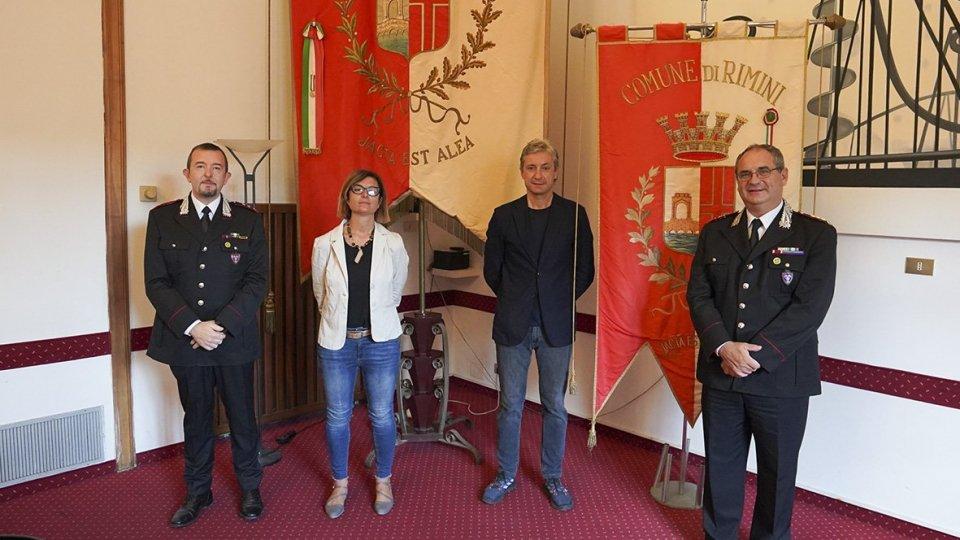 Il sindaco Andrea Gnassi e la vicesindaca Roberta Frisoni incontrano il nuovo Comandante del Gruppo Carabinieri Forestale di Rimini