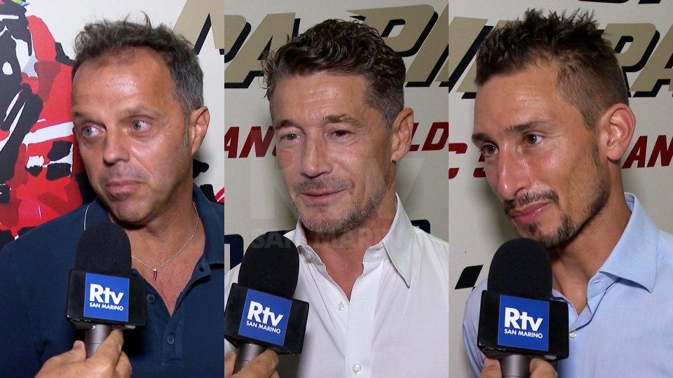 Loris Capirossi, Lucio Cecchinello e Manuel Poggiali