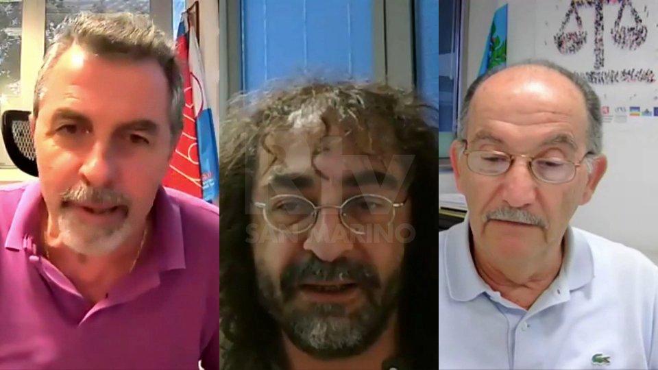 Giuliano Tamagnini, Enzo Merlini e Elio Pozzi