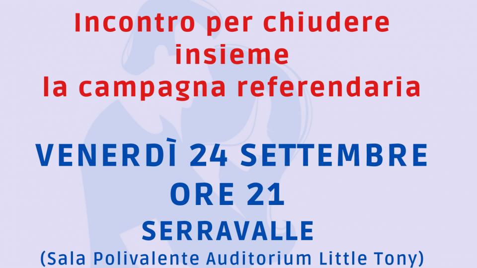 A Serravalle il Comitato Uno di Noi chiude la campagna con una serata sulle ragioni del NO al referendum