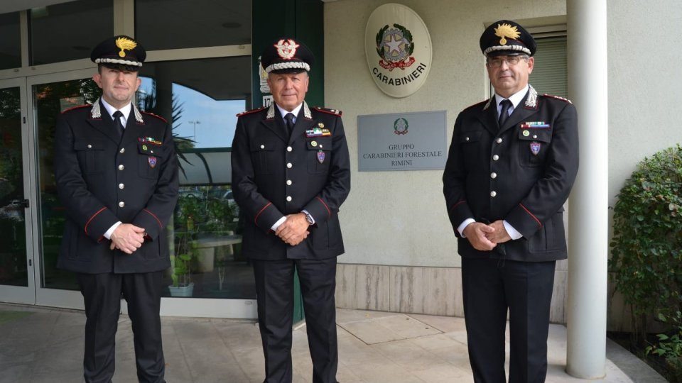 Cambio al vertice del gruppo Carabinieri forestale: a Rimini il Generale Fabrizio Mari