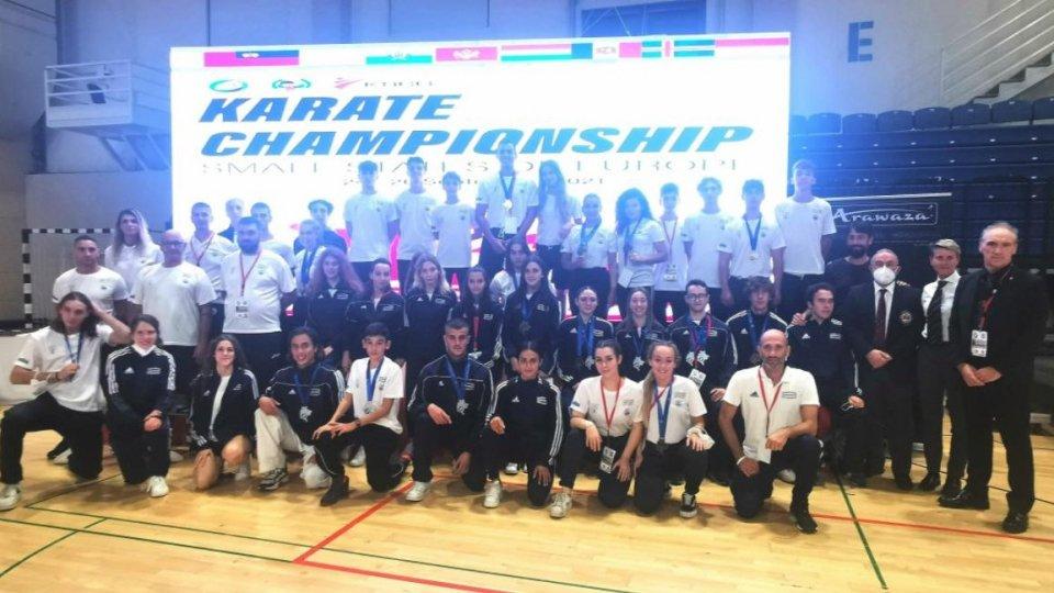 Pioggia di medaglie e un incarico di prestigio per San Marino al Campionato Europeo dei Piccoli Stati di Karate