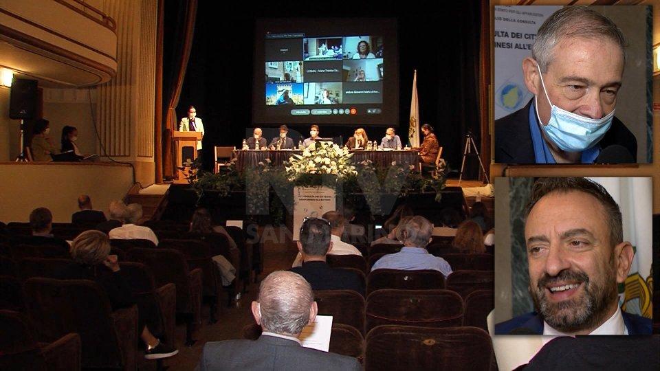 Nel servizio le dichiarazioni del Segretario agli Esteri Luca Beccari e del Presidente della Consulta Otello Pedini