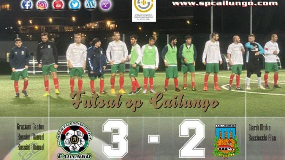 Futsal sp Cailungo, strepitosi e impensabile già alla prima, far punti! Bravissimi.