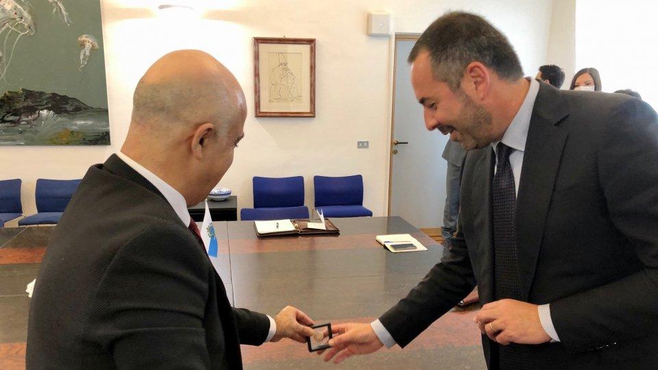 L'Ambasciatore di Israele in Italia Dror Eydar  in visita al Segretario di Stato per il Lavoro Teodoro Lonfernini