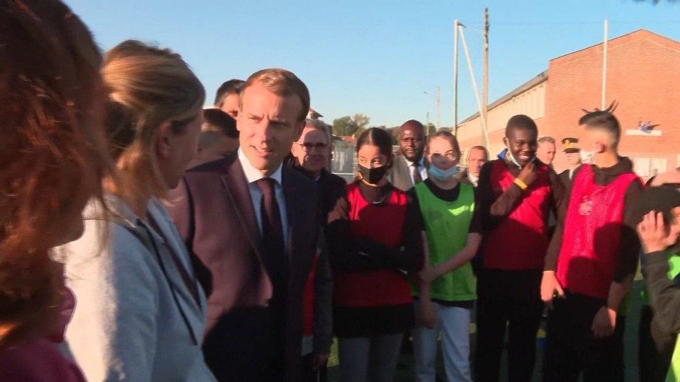 Macron sui cantieri di Parigi 2024