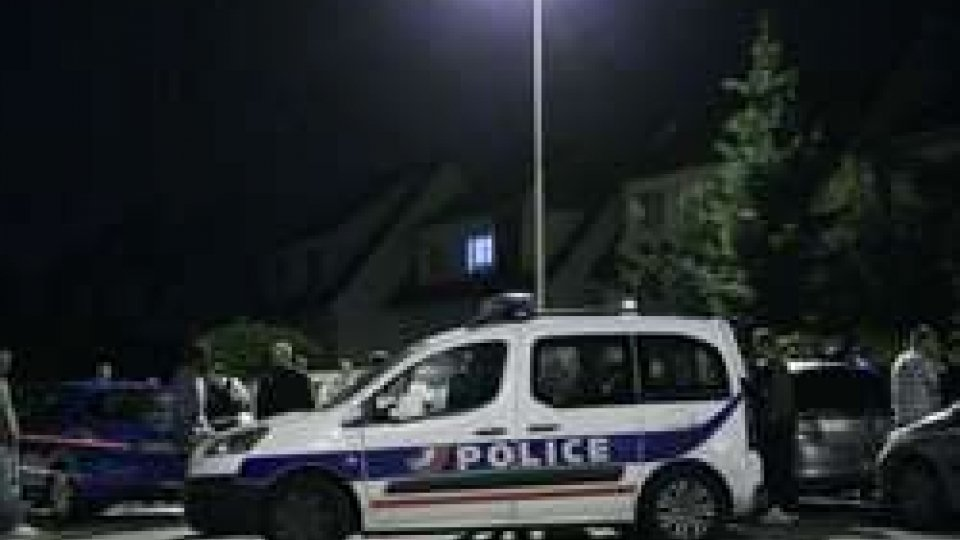 La polizia francese sul luogo