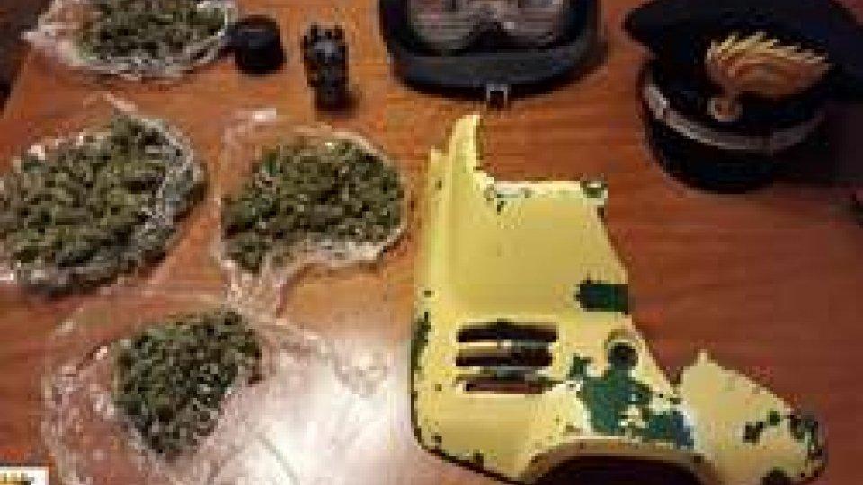 Novafeltria: dal furto di uno scooter, si scoprono 100 grammi di marijuana