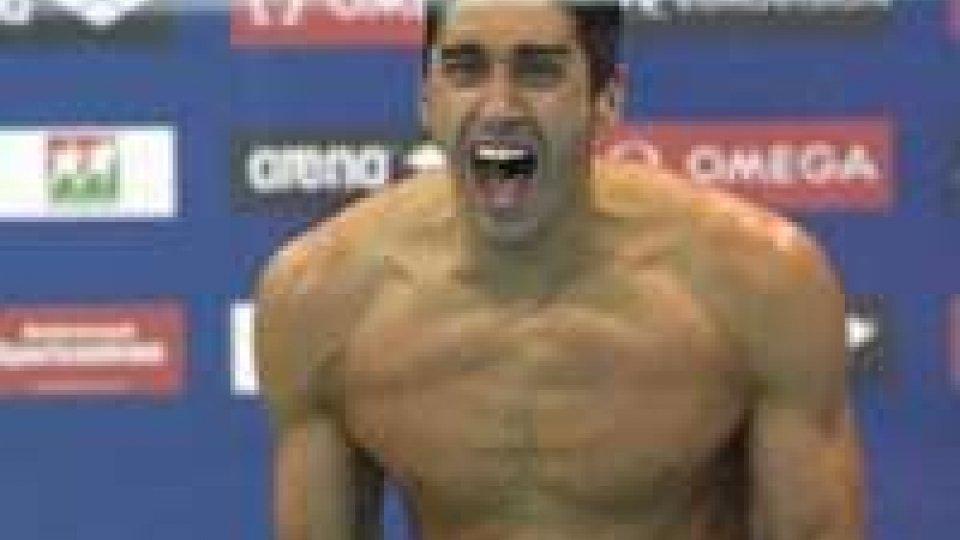 Nuoto, nei 100 sl oro per Magnini agli europei. Oggi in gara Simona Muccioli e Clelia Tini