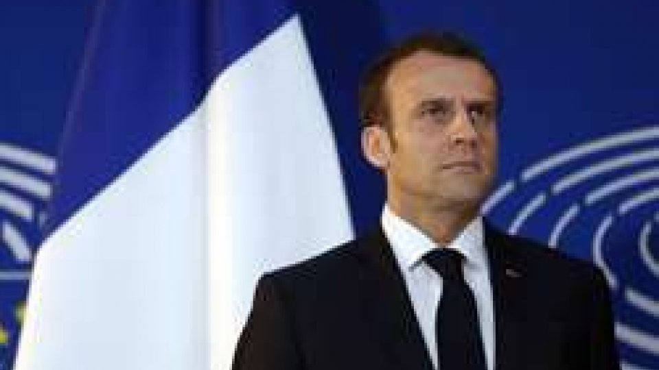 """Il presidente francese Emmanuel Macron. Foto ansaMacron: """"Risposta ad autoritarismo è autorità della democrazia"""""""
