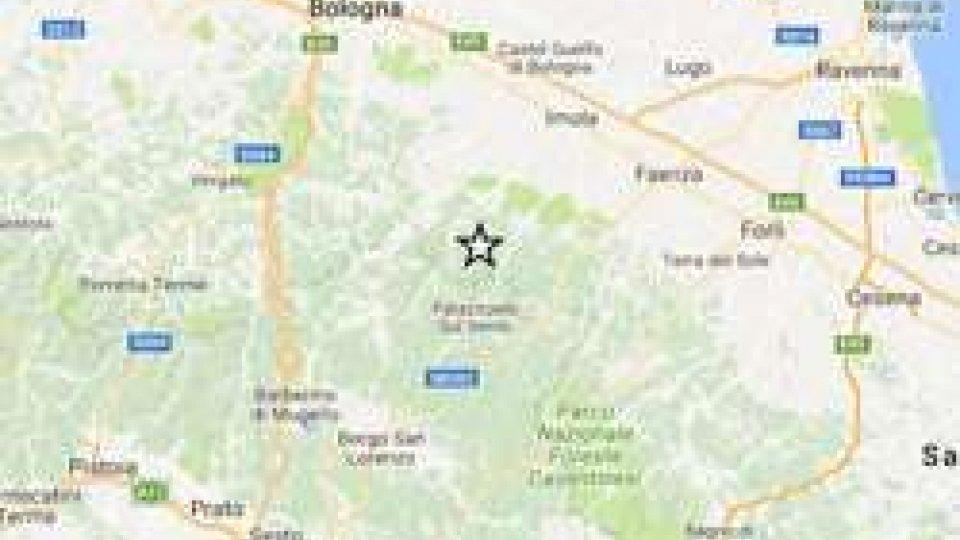 L'epicentro del terremoto