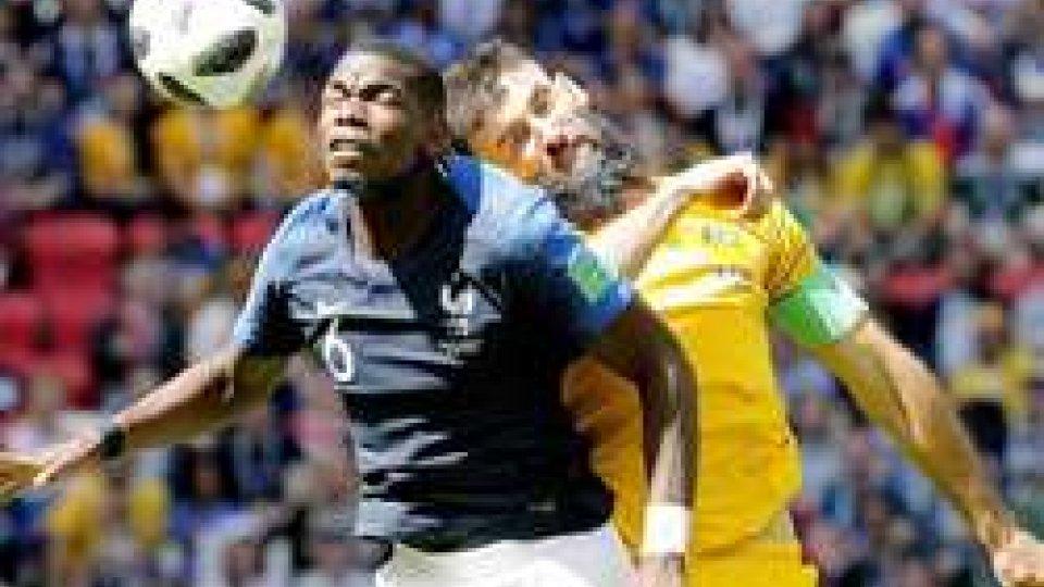 Francia di misura sull'Australia: 2-1, a segno Griezmann e Pogba