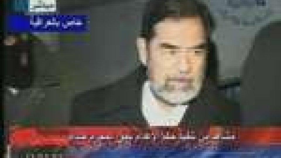 Saddam Hussein, poco prima dell'esecuzione