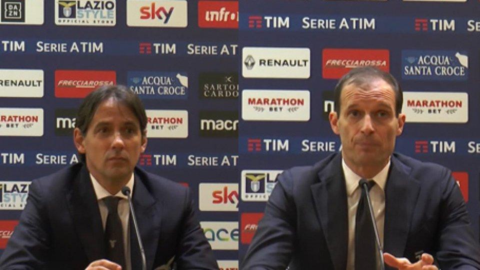 """Simone Inzaghi e Massimiliano AllegriAllegri: """"Lo scudetto passa per queste vittorie"""""""