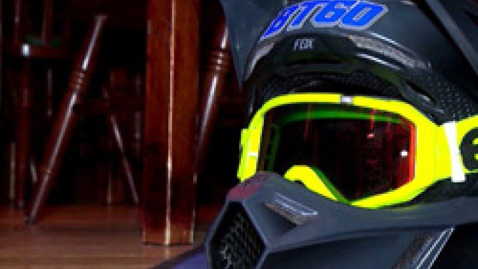 Il casco di Bryan Toccaceli
