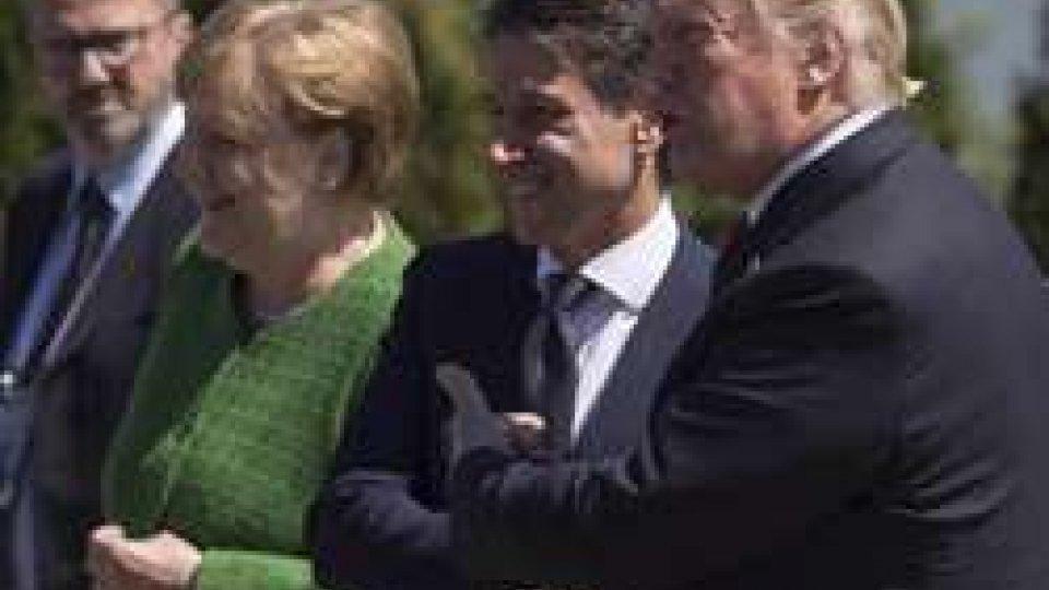 Giuseppe Conte Angela Merkel Donald Trump