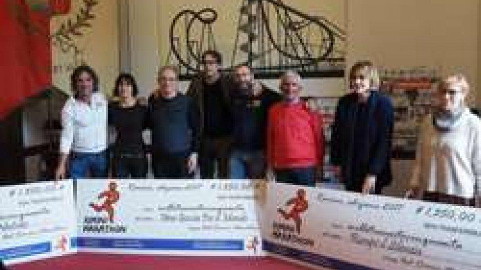 Rimini Marathon e solidarietà: consegnati alle associazioni i fondi raccolti durante l'ultima edizione della maratona