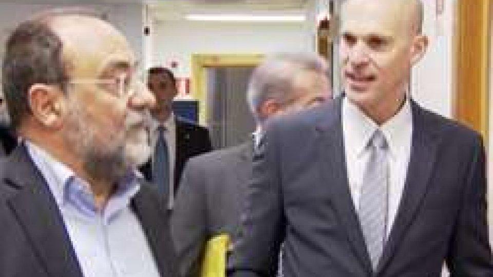 Carlo Romeo e Ofer SachsOfer Sachs: l'ambasciatore israeliano in visita alla San Marino RTV