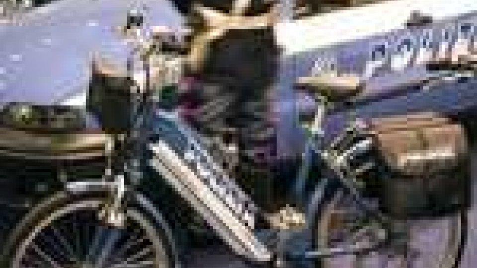 La bicicletta in dotazione alla Polizia