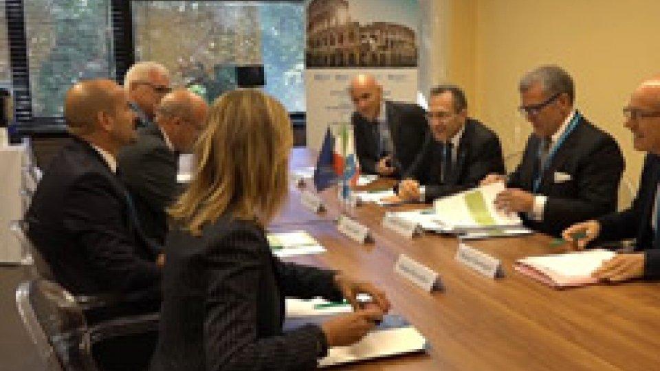 Il Segretario alla Sanità Santi e il Sottosegretario alla Salute Armando BartolazziCannabis ad uso terapeutico, l'Italia vuole San Marino come produttore