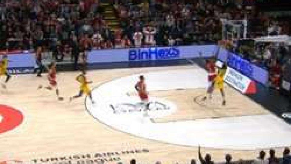 L'ultima azione di Milano - MaccabiEurolega, Milano fa festa al debutto