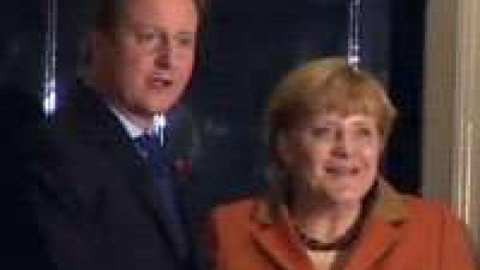 A Londra incontro Cameron-Merkel su bilancio Ue