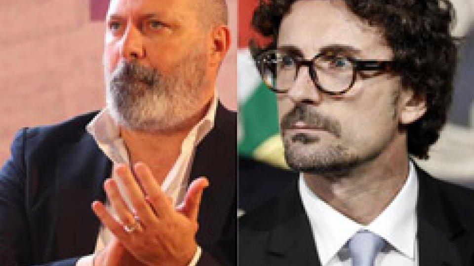 Il Presidente E-R Stefano Bonaccini e il ministro Danilo Toninelli