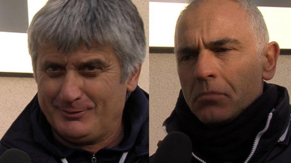 """Daniele Arrigoni Antonio GespiUnder 15: Arrigoni: """" San Marino meritava di più"""" . Gespi: """" i rigori li abbiamo sbagliati tutti"""""""