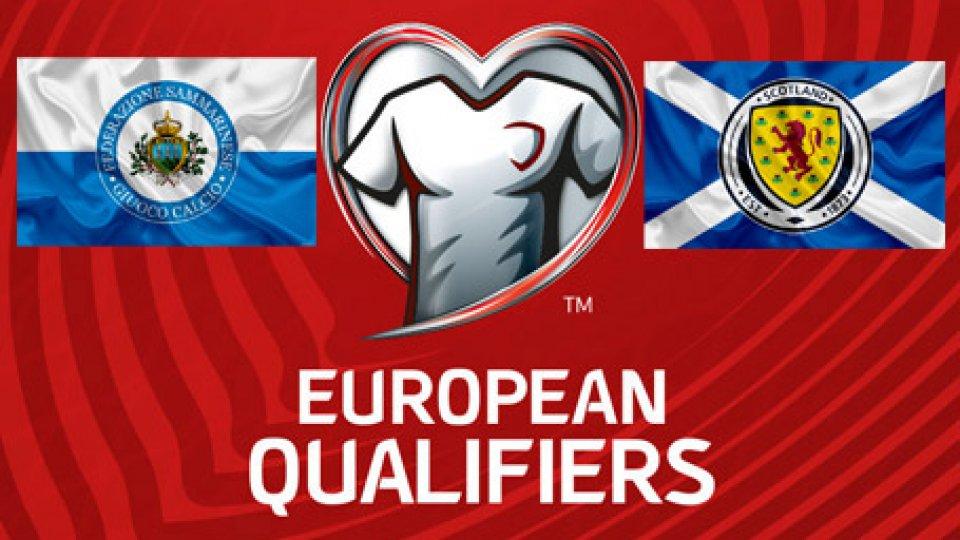 LIVESCORE - Qualificazioni Euro2020: San Marino - Scozia 0-2 FINALE - Clamorosa palla gol per Hirsch nel primo tempo!
