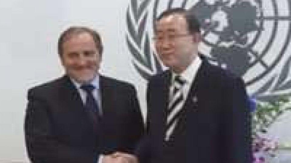 Valentini convince Ban Ki-moon sarà l'oratore del 1° AprileValentini convince Ban Ki-moon: sarà l'oratore del 1° Aprile