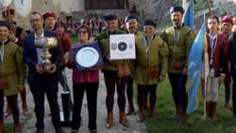 La premiazionePalio dei Castelli: vince il Castello di Città