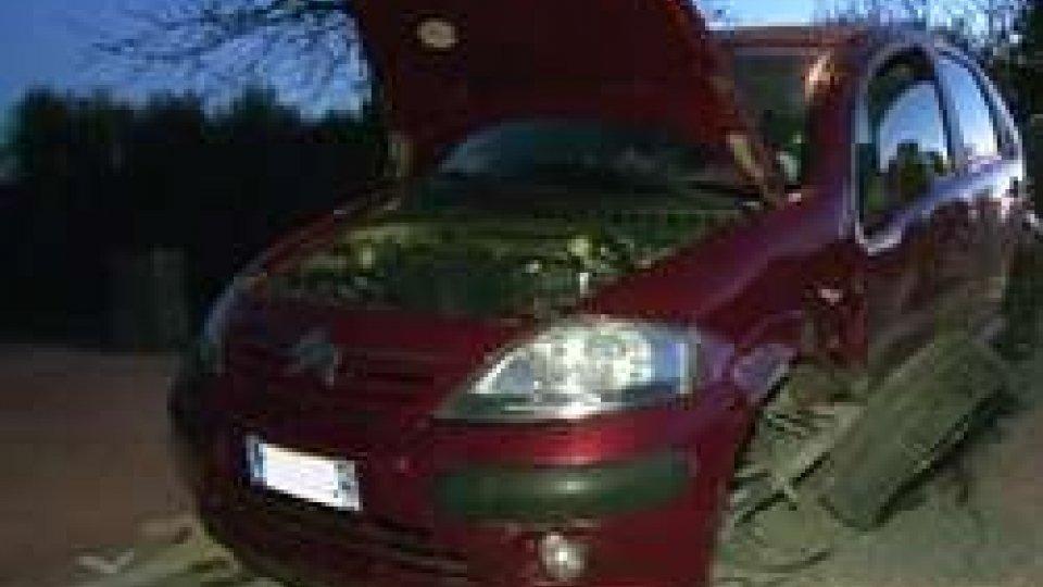 Incidente tra due auto in via PanzanoRimini: incidente tra due auto in via Panzano, traversa via Casalecchio [LE IMMAGINI]