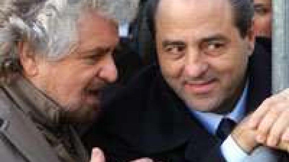 E' bufera nell'Italia dei Valori. E il segretario Pd Bersani boccia il ticket Grillo–Di Pietro