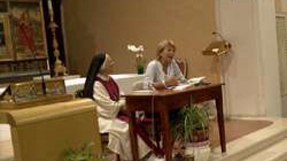 "Paola Bergamini e Suor Maria Gloria RivaArriva a San  Marino ""Il Vangelo guancia a guancia"""