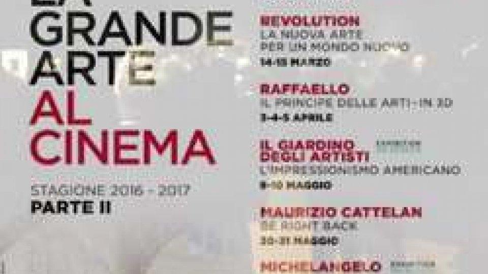 Nuovo cartellone per LA GRANDE ARTE AL CINEMAARTE AL CINE II parte: un'altra stagione al CONCORDIA