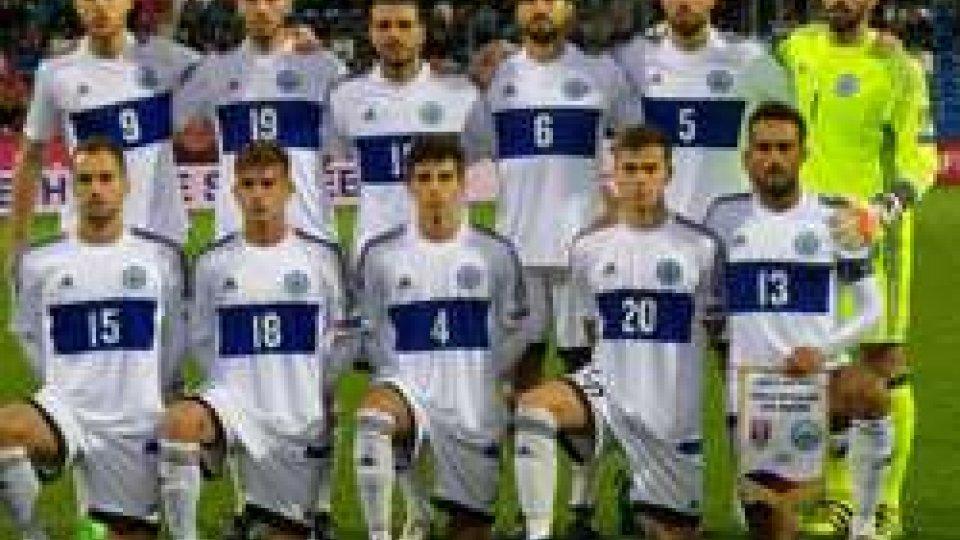 Repubblica Ceca-San Marino - Foto FSGCRepubblica Ceca-San Marino 5-0: i biancazzurri rischiano il tracollo, poi contengono