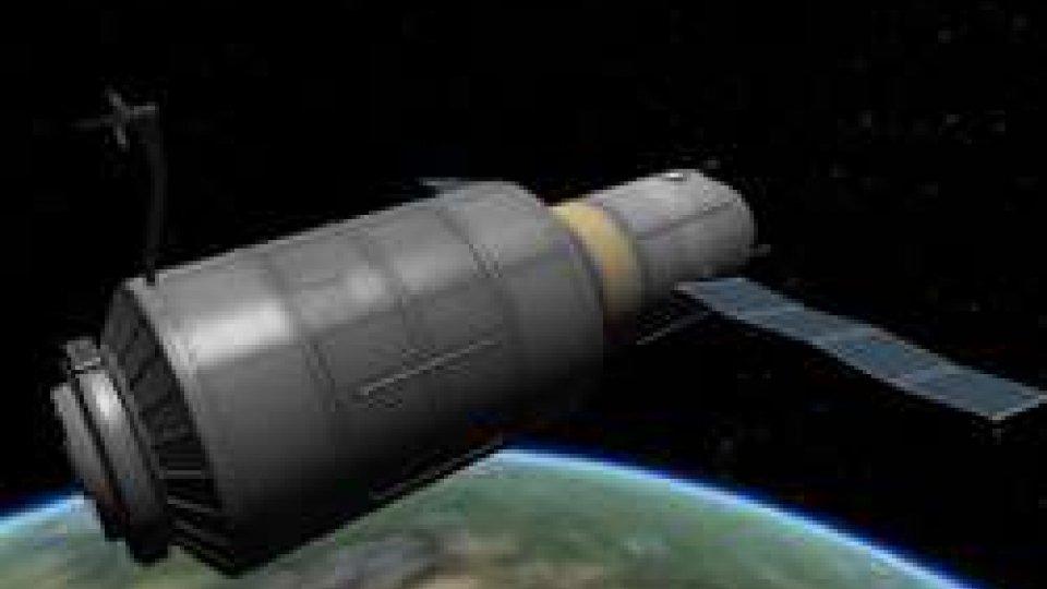 Rappresentazione grafica della stazione spaziale cinese Tiangong, foto ANSA