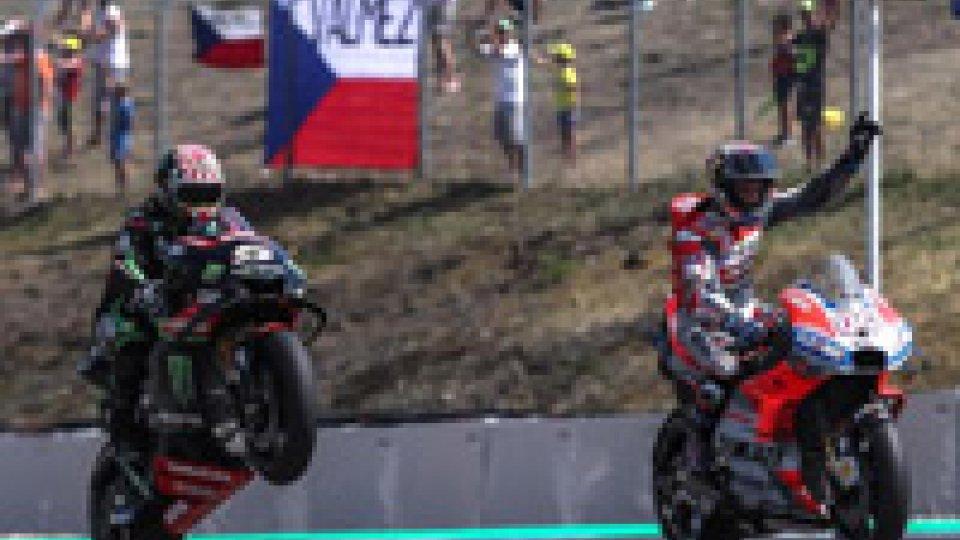 A Brno è doppietta Ducati, vince Dovizioso