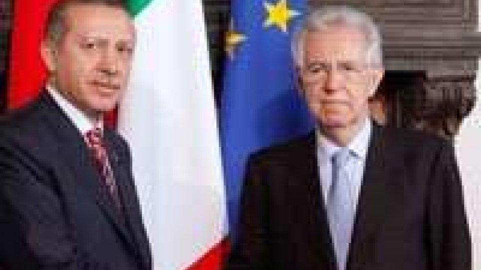 L'Italia sostiene la candidatura della Turchia nell'UE