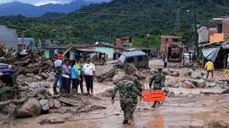 Colombia, valanga di fango