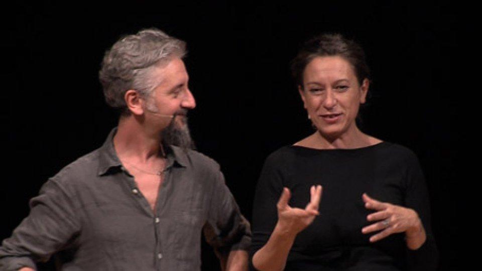 Ascanio Celestini e Giuliana MussoTEATRANTI per UniRSM: Celestini - Musso (POTENTE/FRAGILE)