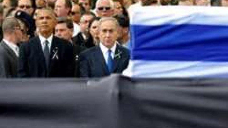 i funerali di Shimon Peres
