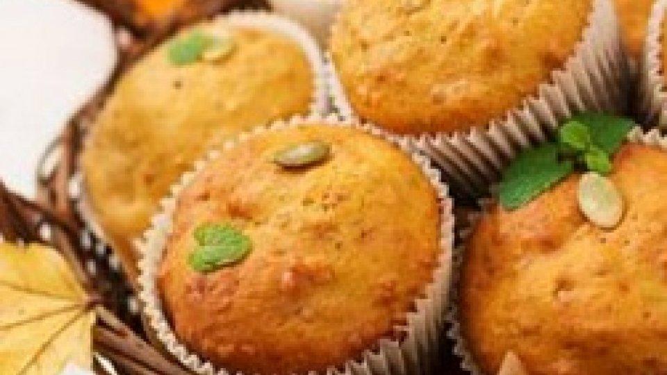 Muffins liquorosi alla zucca gialla e mandorle
