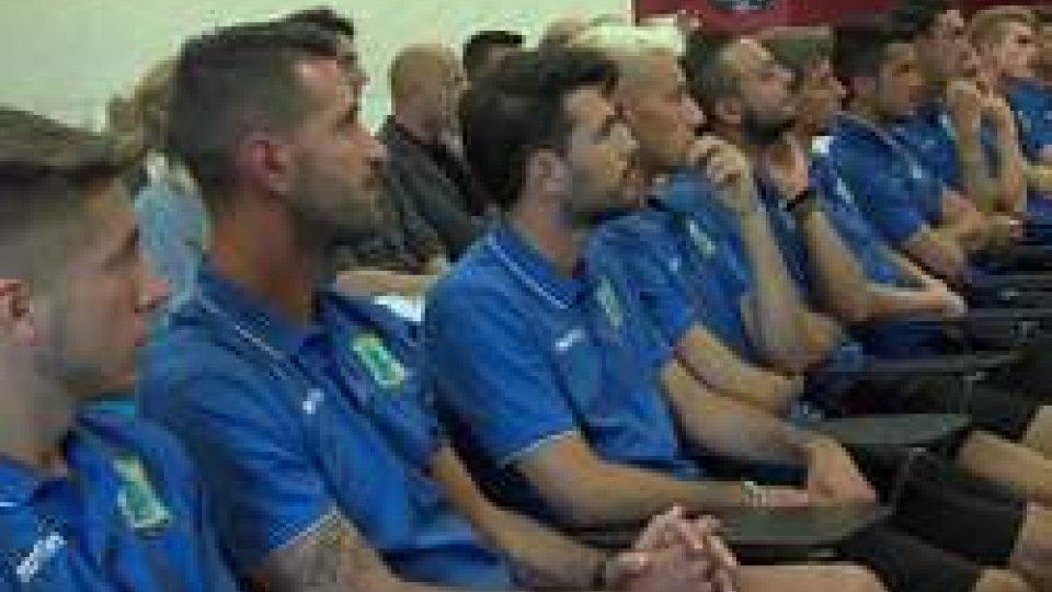 La presentazione del San Marino CalcioIl San Marino presenta la rivoluzione. L'intervista al Presidente Mancini